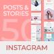 50 Instagram Posts & Stories - GraphicRiver Item for Sale