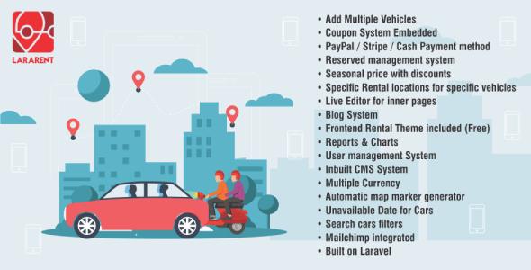 LaraRent - Multipurpose Vehicle Rental System Laravel Script