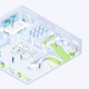 Modern Business Company Office Isometric Vector - GraphicRiver Item for Sale