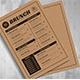 Retro Menus With Kraft Paper - GraphicRiver Item for Sale