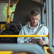 Businessman traveling by bus - PhotoDune Item for Sale