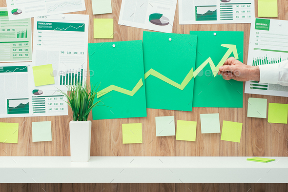 Financial success and green business - Stock Photo - Images