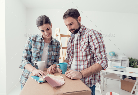 Moving into a new house - Stock Photo - Images