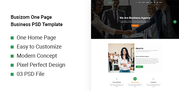 Busizom - One Page Business Template - Business Corporate
