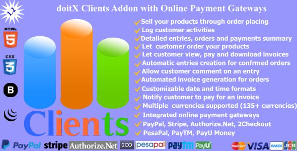 doitX Clients - doitX Addon with Online Payment Gateways - CodeCanyon Item for Sale