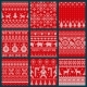 Christmas Embroidery Seamless Knitted Pattern Set - GraphicRiver Item for Sale