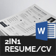 Resume/CV Bundle - 2in1 - GraphicRiver Item for Sale