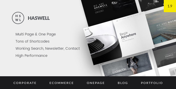 Haswell - Multipurpose One & Multi Page Template - Corporate Site Templates