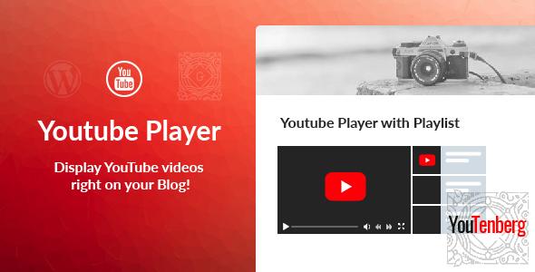 Youtenberg - Gutenberg YouTube Player with Playlist