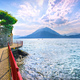 Varenna Walk of Lovers, Como Lake district landscape. Italy, Eur - PhotoDune Item for Sale