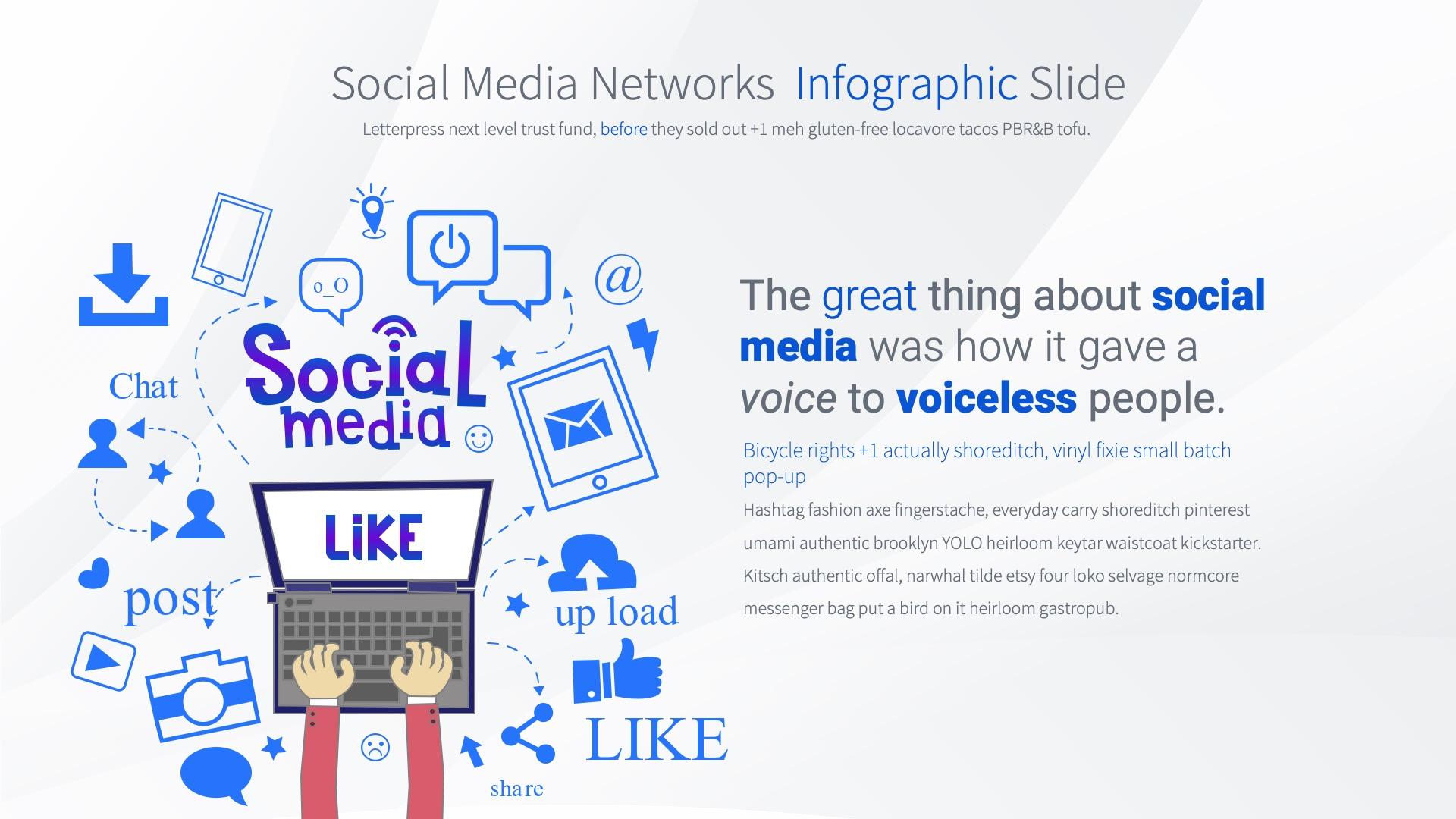 Social Media Network - PowerPoint Infographics Slides