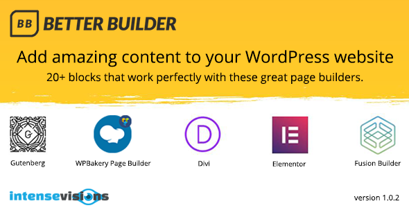 Better Builder - Addon for WordPress Page Builders - CodeCanyon Item for Sale