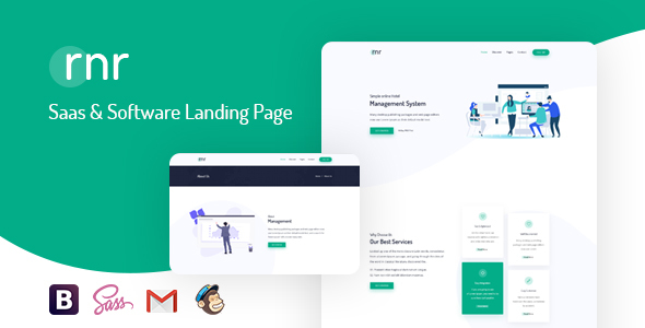 RNR - Sass & Software Landing Page Template