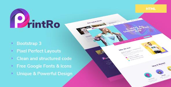 PrintRo - T-Shirt Designer HTML Template