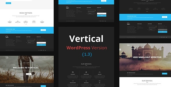 Download Vertical- One Page Multipurpose WordPress Theme nulled preview