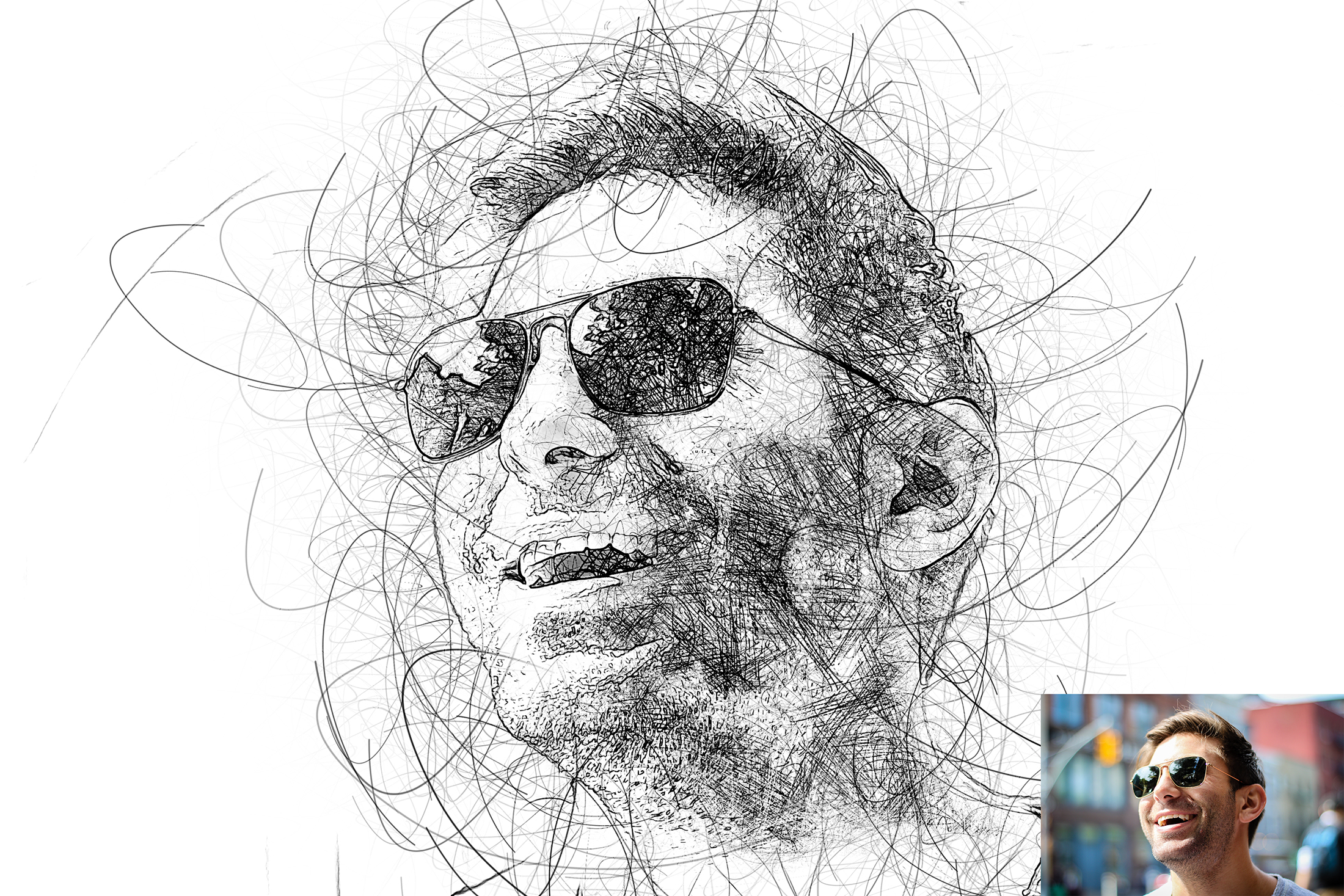 Portrait scribble sketch art photoshop action photo effects actions preview 01 jpg