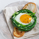 Green beans with sunny side fried egg on toast - PhotoDune Item for Sale