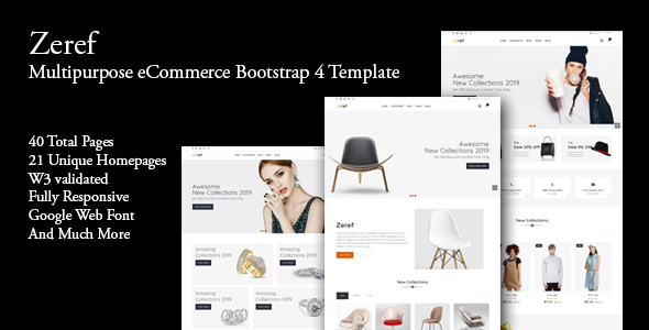 Zeref - Multipurpose eCommerce Bootstrap4 Template - Shopping Retail