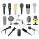 Microphone Vector Microphones for Audio Podcast - GraphicRiver Item for Sale