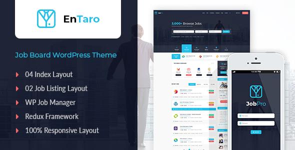 Entaro - Job Portal WordPress Theme - Directory & Listings Corporate