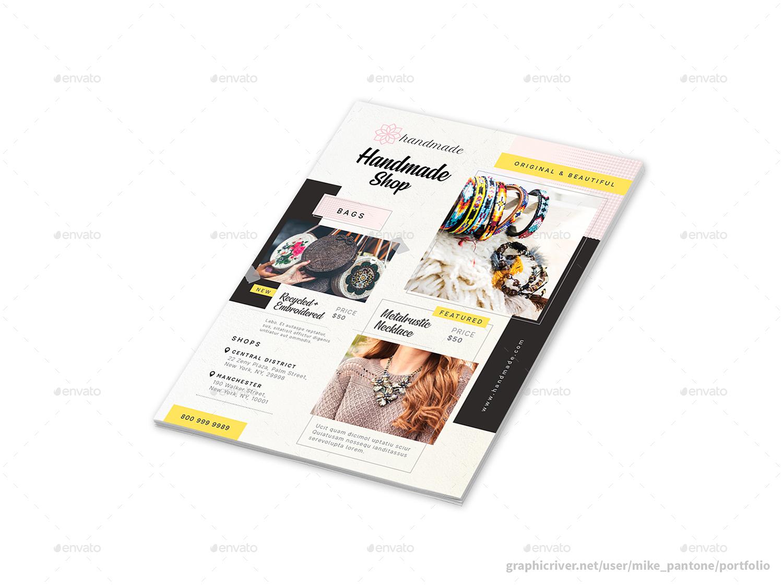 Handmade Shop Flyers 2 – 4 Options