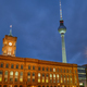 The red city hall and the famous Television Tower - PhotoDune Item for Sale