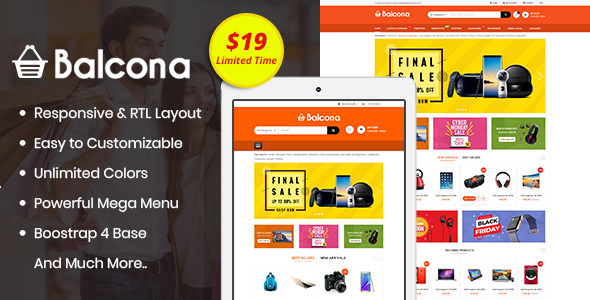 Balcona - The Multipurpose Store OpenCart 3 Theme - OpenCart eCommerce