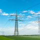 High-voltage lines on a sunny day  - PhotoDune Item for Sale
