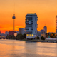 Dramatic sunset at the river Spree in Berlin  - PhotoDune Item for Sale
