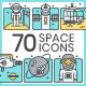 Space Icons - Aqua Series - GraphicRiver Item for Sale