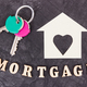 Keys, home shape and inscription mortgage, buying house concept - PhotoDune Item for Sale