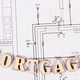 Inscription mortgage on electrical construction diagrams, buying house concept - PhotoDune Item for Sale