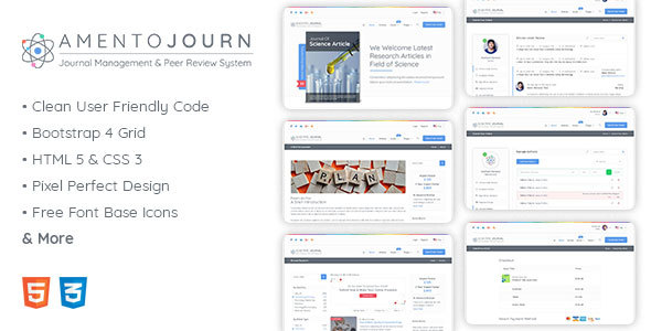 Amentojourn - Journal Management and Peer Review System - Miscellaneous Site Templates