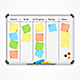 Board with Color Sticky Notes and Markers - GraphicRiver Item for Sale