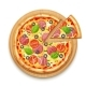 Fresh Pizza with Toppings - GraphicRiver Item for Sale