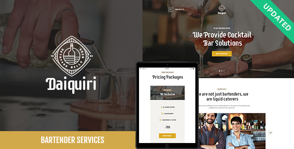 Daiquiri | Bartender Services & Catering Cocktail WordPress Theme