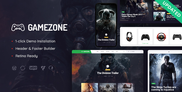 Gamezone | Gaming Blog & Store WordPress Theme - Entertainment WordPress