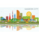 Quezon City Philippines City Skyline with Color - GraphicRiver Item for Sale