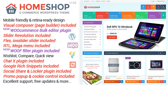 Home Shop - WooCommerce Theme - WooCommerce eCommerce
