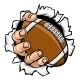 Football Hand Tearing Background - GraphicRiver Item for Sale