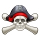 Skull and Cross Bones Pirate - GraphicRiver Item for Sale
