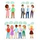 Bubble People Vector Bubbling Speech Communication - GraphicRiver Item for Sale
