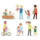 Father and Child Vectors - GraphicRiver Item for Sale