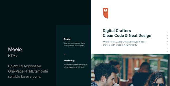 Meelo - Corporate One Page HTML Template - Corporate Site Templates