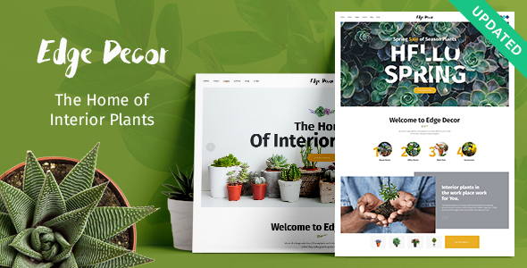 Edge Decor | A Modern Gardening & Landscaping WordPress Theme - Retail WordPress