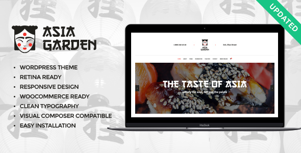 Asia Garden | Asian Food Restaurant WordPress Theme