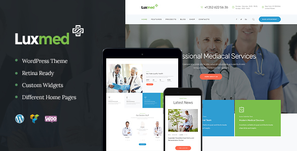 LuxMed | Medicine & Healthcare WordPress Theme - Health & Beauty Retail