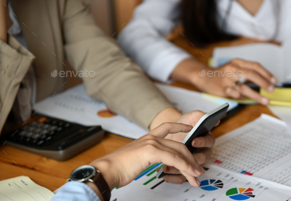 Staff team is planning an event to present customers. - Stock Photo - Images