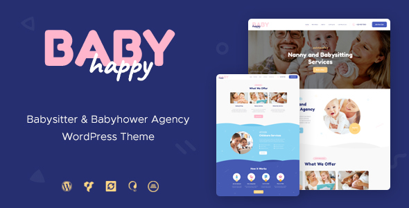 Happy Baby | Nanny & Babysitting Services WordPress Theme