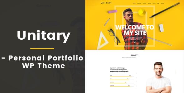Unitary - Creative Personal Portfolio WP Theme - Personal Blog / Magazine